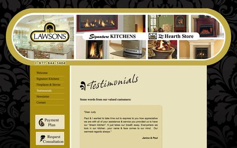 Screenshot of Testimonials Page lawsonsmoncton.com - Test - Lawsons Moncton - captured Oct. 2, 2014