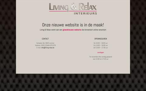 Screenshot of Home Page living-relax.be - Living & Relax - captured Oct. 3, 2014