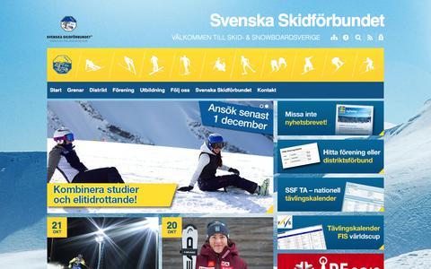Screenshot of Home Page skidor.com - Svenska Skidförbundet - captured Oct. 24, 2017