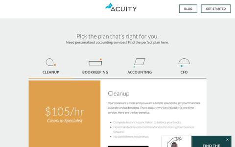 Screenshot of Pricing Page acuity.co - Online Accounting Services & Bookkeeping Pricing   Acuity - captured Sept. 12, 2018
