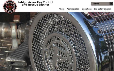 Screenshot of Home Page lehighfd.com - Home Page | Lehigh Acres Fire control & Rescue District - captured Sept. 28, 2018