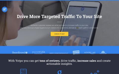 Screenshot of Landing Page yotpo.com - Yotpo – Customer Content Marketing Solution - captured Oct. 3, 2016