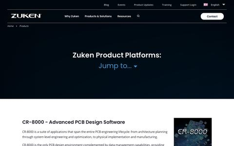 Screenshot of Products Page zuken.com - Products Archive - Zuken EN - captured Oct. 11, 2019