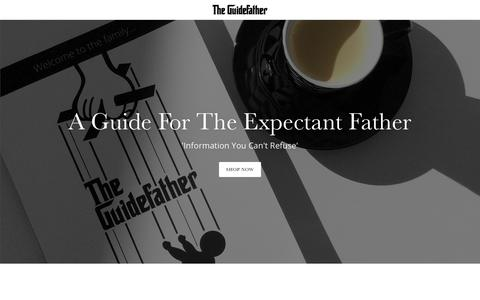 Screenshot of Home Page theguidefather.co.uk - The Guidefather - A Guide For The Expectant Father - captured Sept. 20, 2018