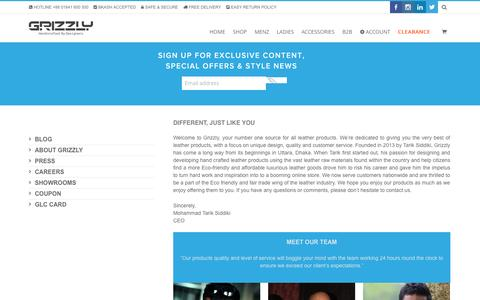 Screenshot of About Page grizzlybd.com - About Us | Grizzly Online Shop - captured Oct. 3, 2014