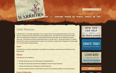 Screenshot of About Page littlewarriors.ca - Little Warriors | Little Warriors - captured Sept. 19, 2014