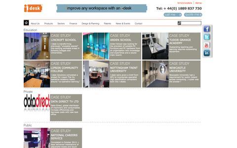 Screenshot of Case Studies Page i-desk.co.uk - I-desk - captured Oct. 6, 2014