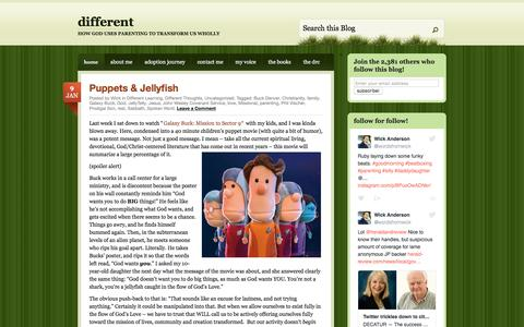 Screenshot of Home Page differentparent.com - different | how God uses parenting to transform us wholly - captured Jan. 26, 2017