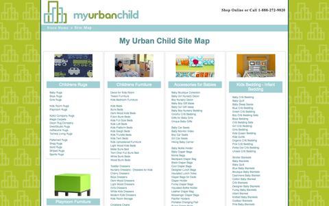 Screenshot of Site Map Page myurbanchild.com - My Urban Child   Site Map - captured Sept. 25, 2014