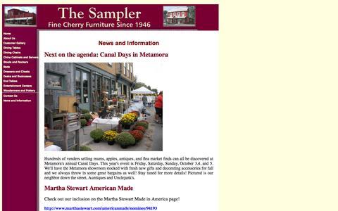 Screenshot of Press Page samplercherryfurniture.com - The Sampler - captured Oct. 6, 2014