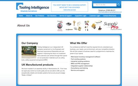 Screenshot of About Page toolingintelligence.co.uk - About us - Tooling Intelligence Ltd, Premier UK Vending Solutions Provider - captured Oct. 7, 2014