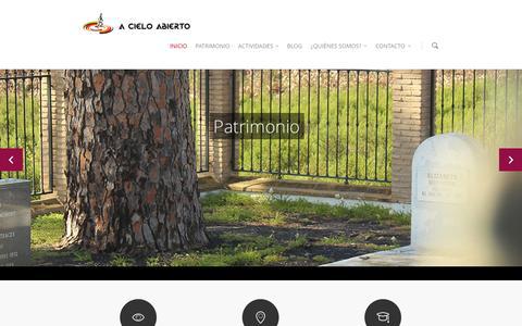 Screenshot of Home Page espacioacieloabierto.com - Espacio a cielo abierto: rutas y visitas guiadas en Tharsis - captured Oct. 1, 2014