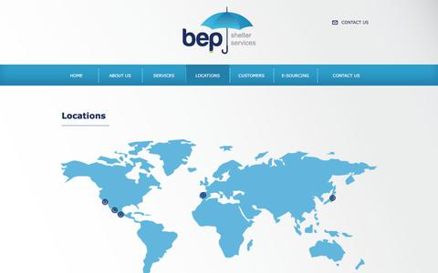 Screenshot of Locations Page bepss.com - Locations - bep - captured March 5, 2016