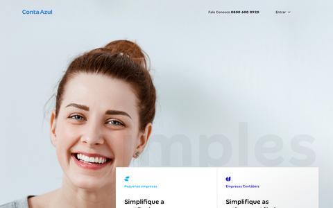 Screenshot of Home Page contaazul.com - Luana diz… - captured Feb. 13, 2020