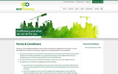 Screenshot of Terms Page ecofficiency.co.uk - Terms & Conditions | Ecofficiency - captured Oct. 1, 2014
