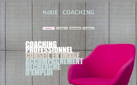 """Screenshot of Home Page node-coaching.ch - """"node coaching"""" - captured Feb. 23, 2016"""