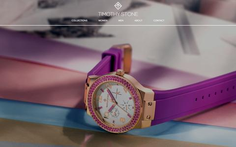Screenshot of Home Page timothystone.com - Watches for Women: Sliver, Rose Gold | Timothy Stone - captured Dec. 10, 2016