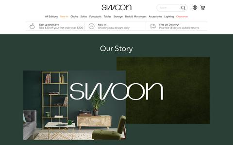 Screenshot of About Page swooneditions.com - Our story | Swoon - captured Sept. 23, 2018