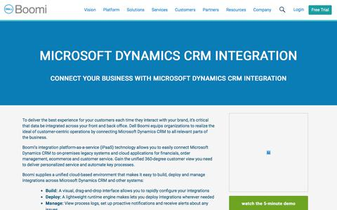 Microsoft Dynamics CRM Integration - Dell Boomi