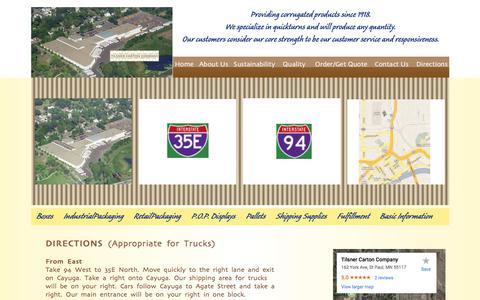 Screenshot of Maps & Directions Page tilsner-carton.com - Tilsner Carton Company Directions| St. Paul | Minnesota - captured Oct. 24, 2017