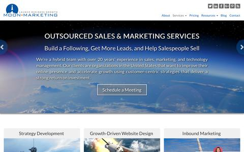 Screenshot of Services Page moonmarketingsystem.com - Sales & Marketing Services - captured Sept. 30, 2018