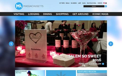 Screenshot of Home Page massvacation.com - Things to Do in Boston | Things to Do in Massachusetts | MassVacation.com - captured Feb. 1, 2016