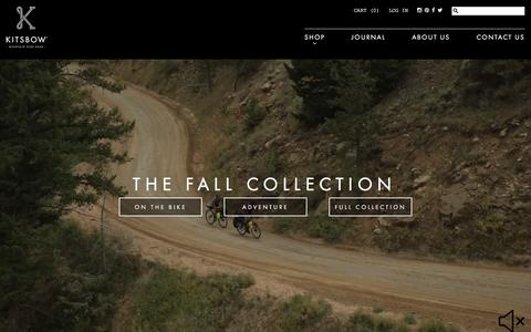 Screenshot of Home Page kitsbow.com - Mountain Bike Apparel | Kitsbow - captured Oct. 23, 2015
