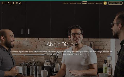 Screenshot of About Page dialexa.com - Dialexa | About - captured Sept. 24, 2015