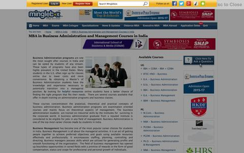 Screenshot of Team Page minglebox.com - MBA in Business Administration and Management Courses in India  - minglebox - captured Oct. 28, 2014