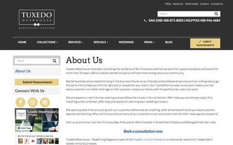 About Us - Milpitas & San Jose   Tuxedo Wearhouse