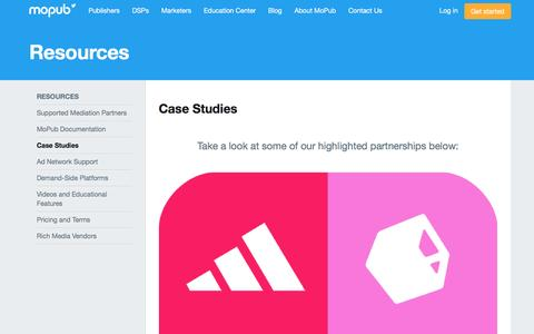 Screenshot of Case Studies Page mopub.com captured March 18, 2017
