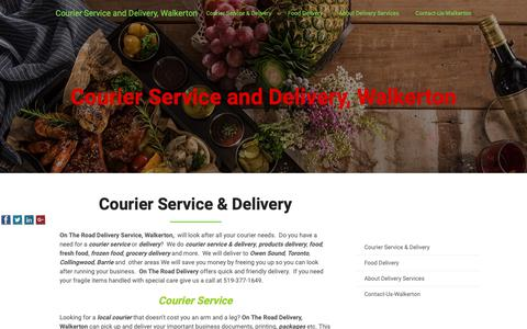 Screenshot of Home Page ontheroaddelivery.ca - Courier Service & Delivery, Walkerton - captured Oct. 19, 2018