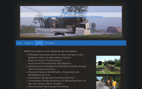 Screenshot of Services Page hofferassociates.com - Hoffer & Associates - Services - captured May 20, 2017