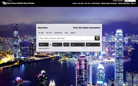 Screenshot of Home Page real-buzz.com - The global real estate marketplace - captured Feb. 15, 2016