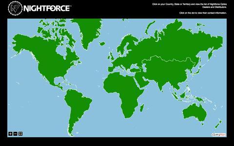 Screenshot of Maps & Directions Page nightforceoptics.com - Nightforce Optics - captured Oct. 29, 2014