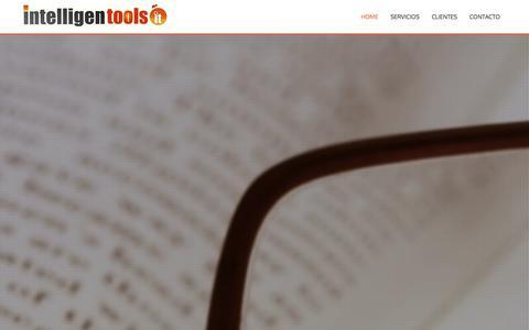 Screenshot of Home Page intelligent-tools.cl - Intelligent Tools - captured Jan. 8, 2016