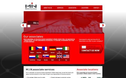 Screenshot of Home Page mediainsurancenetwork.com - MIN [Media Insurance Network] - captured Sept. 3, 2015