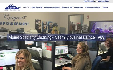 Screenshot of About Page alpineclean.com - About Us - Alpine Seattle Carpet Cleaning - captured Oct. 3, 2018