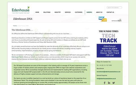 Screenshot of Jobs Page edenhousesolutions.co.uk - Edenhouse DNA - Excellence delivered - captured Oct. 2, 2014