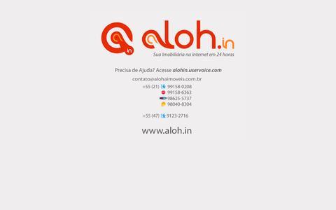 Screenshot of Home Page imoveisonlinerio.com.br - Aloh.in ~ Sistemas e Sites para Imobiliárias e Corretores de Imóveis - captured Oct. 6, 2014