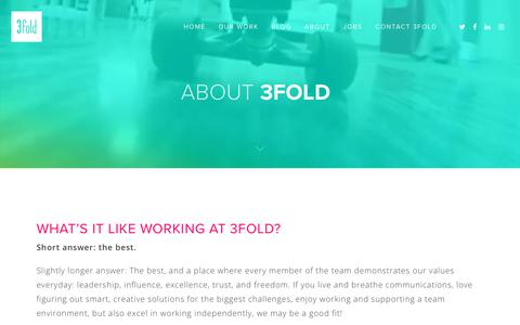 Screenshot of Jobs Page 3foldcomm.com - Work at 3fold - 3fold Communications - captured Nov. 15, 2017