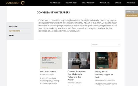 Conversant Whitepapers  | Conversant