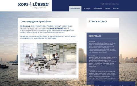 Screenshot of Team Page kopf-luebben.com - Kopf+Lübben: Team - captured Oct. 16, 2018