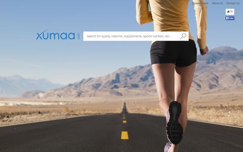 Screenshot of Home Page xumaa.com - xumaa - captured Oct. 6, 2014