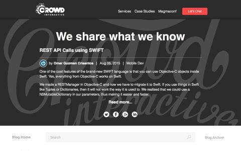 Screenshot of Blog crowdint.com - Crowd Interactive Blog | Leading eCommerce consultancy firm - captured Sept. 17, 2015
