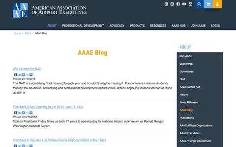 Screenshot of Blog aaae.org - Blog - captured July 28, 2018