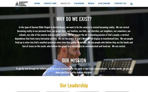 Screenshot of About Page harvestphiladelphia.org - Harvest Bible Chapel Philadelphia - captured Oct. 29, 2016