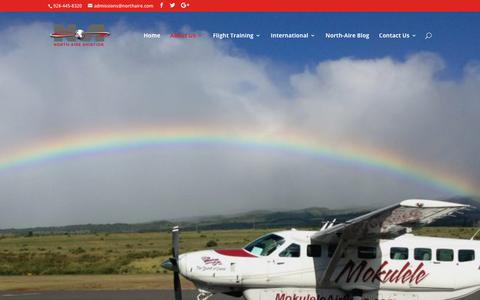 Screenshot of About Page northaire.com - About Us - North-Aire Aviation - captured Oct. 18, 2018