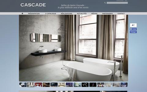 Screenshot of Home Page cascade-bain.com - Cascade | Accueil - captured Jan. 30, 2015