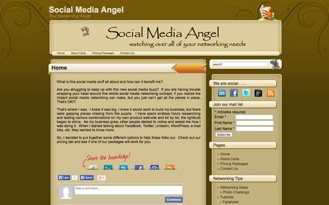 Screenshot of Home Page social-media-angel.com - Social Media Angel - captured Sept. 30, 2014